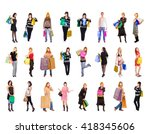 isolated concept buying things  | Shutterstock . vector #418345606