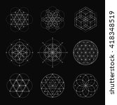 sacred geometry vector design... | Shutterstock .eps vector #418348519