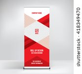 banner roll up design  business ... | Shutterstock .eps vector #418349470