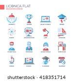 set of modern education flat... | Shutterstock . vector #418351714