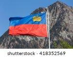 kingdom liechtenstein flag | Shutterstock . vector #418352569