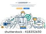 illustration of vector modern... | Shutterstock .eps vector #418352650
