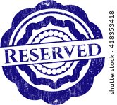 reserved rubber seal with... | Shutterstock .eps vector #418353418