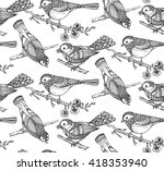 seamless pattern with  hand... | Shutterstock .eps vector #418353940