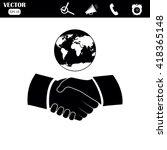 handshake vector illustration.... | Shutterstock .eps vector #418365148