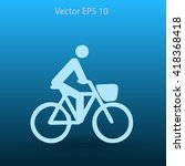 flat cyclist icon | Shutterstock .eps vector #418368418
