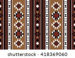brown theme middle eastern rug... | Shutterstock .eps vector #418369060
