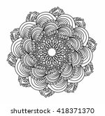 ornamental round pattern with... | Shutterstock .eps vector #418371370