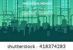 abstract industrial... | Shutterstock .eps vector #418374283