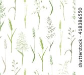 vector seamless pattern. meadow ... | Shutterstock .eps vector #418386550