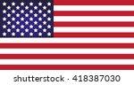 american flag   Shutterstock .eps vector #418387030