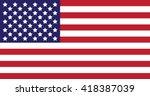 american flag | Shutterstock .eps vector #418387039