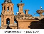 Small photo of Storks in San Miguel Collegiate Church, Alfaro (Spain)