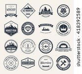 set of vector logotypes...   Shutterstock .eps vector #418392589