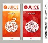 vector set of templates... | Shutterstock .eps vector #418394674