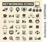 networking icons  | Shutterstock .eps vector #418395460