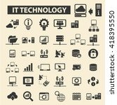 it technology icons  | Shutterstock .eps vector #418395550