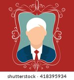 portrait of an young man in... | Shutterstock .eps vector #418395934