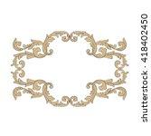 vintage baroque frame scroll... | Shutterstock .eps vector #418402450