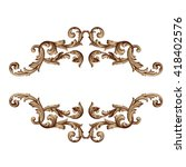 vintage baroque frame scroll... | Shutterstock .eps vector #418402576