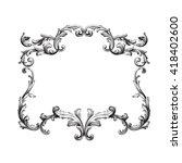 vintage baroque frame scroll...   Shutterstock .eps vector #418402600