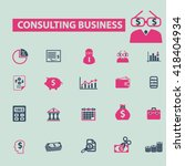 consulting business icons  | Shutterstock .eps vector #418404934