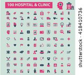 hospital clinic icons  | Shutterstock .eps vector #418410736