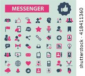 messenger icons  | Shutterstock .eps vector #418411360