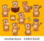 big collection of bear... | Shutterstock .eps vector #418415620