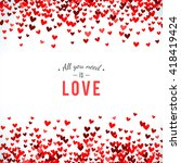 romantic red background.... | Shutterstock . vector #418419424