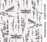Seamless With Lavender And...