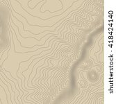 topographic map background... | Shutterstock .eps vector #418424140
