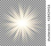 sparkling sun rays burst with... | Shutterstock .eps vector #418424416
