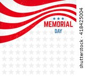 memorial day background with... | Shutterstock .eps vector #418425004