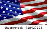 Closeup Of American Usa Flag ...