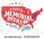 happy memorial day. in memory... | Shutterstock .eps vector #418430059