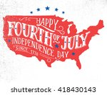 happy fourth of july.... | Shutterstock .eps vector #418430143