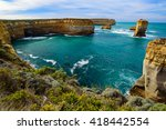 view of great ocean road in... | Shutterstock . vector #418442554