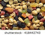 nuts and candied fruits macro ... | Shutterstock . vector #418442743