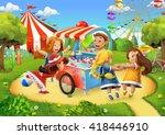 park  playground vector... | Shutterstock .eps vector #418446910