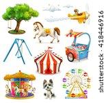 Children Playground  Vector...