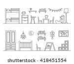 set of elements for baby room... | Shutterstock .eps vector #418451554