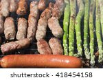 cevapi  famous balkan dish ... | Shutterstock . vector #418454158