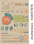 business infographics set with... | Shutterstock .eps vector #418457878