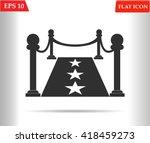 red carpet icon.vector... | Shutterstock .eps vector #418459273