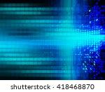 blue silver abstract hi speed...   Shutterstock . vector #418468870