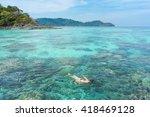 woman snorkeling in ko surin... | Shutterstock . vector #418469128
