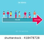 conceptual success man vector... | Shutterstock .eps vector #418478728