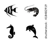 Marine Life Vector Icons