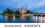 schwerin castle  schwerin ... | Shutterstock . vector #418483876